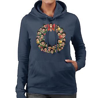 Kerst krans Multi Victoria Beckham vrouwen de Hooded Sweatshirt