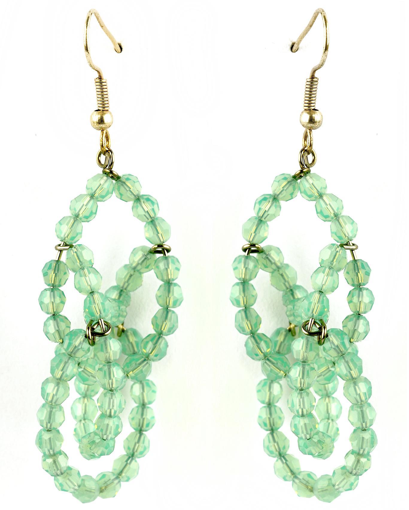 Waooh - sieraden - WJ0744 - oorbellen met strass Swarovski groen transparant