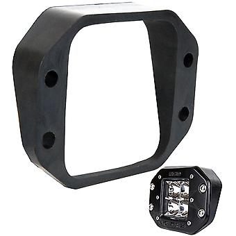 Série D Industries rigide coudé Flush Mount Kit - haut/bas
