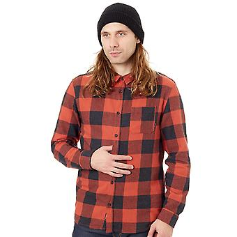 Quiksilver Barn Red Check Motherfly Flannel Long Sleeved Shirt