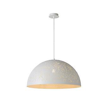 Eternelle lucide moderne ronde métal blanc pendentif lumineux