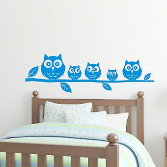Owls on a branch wall art sticker