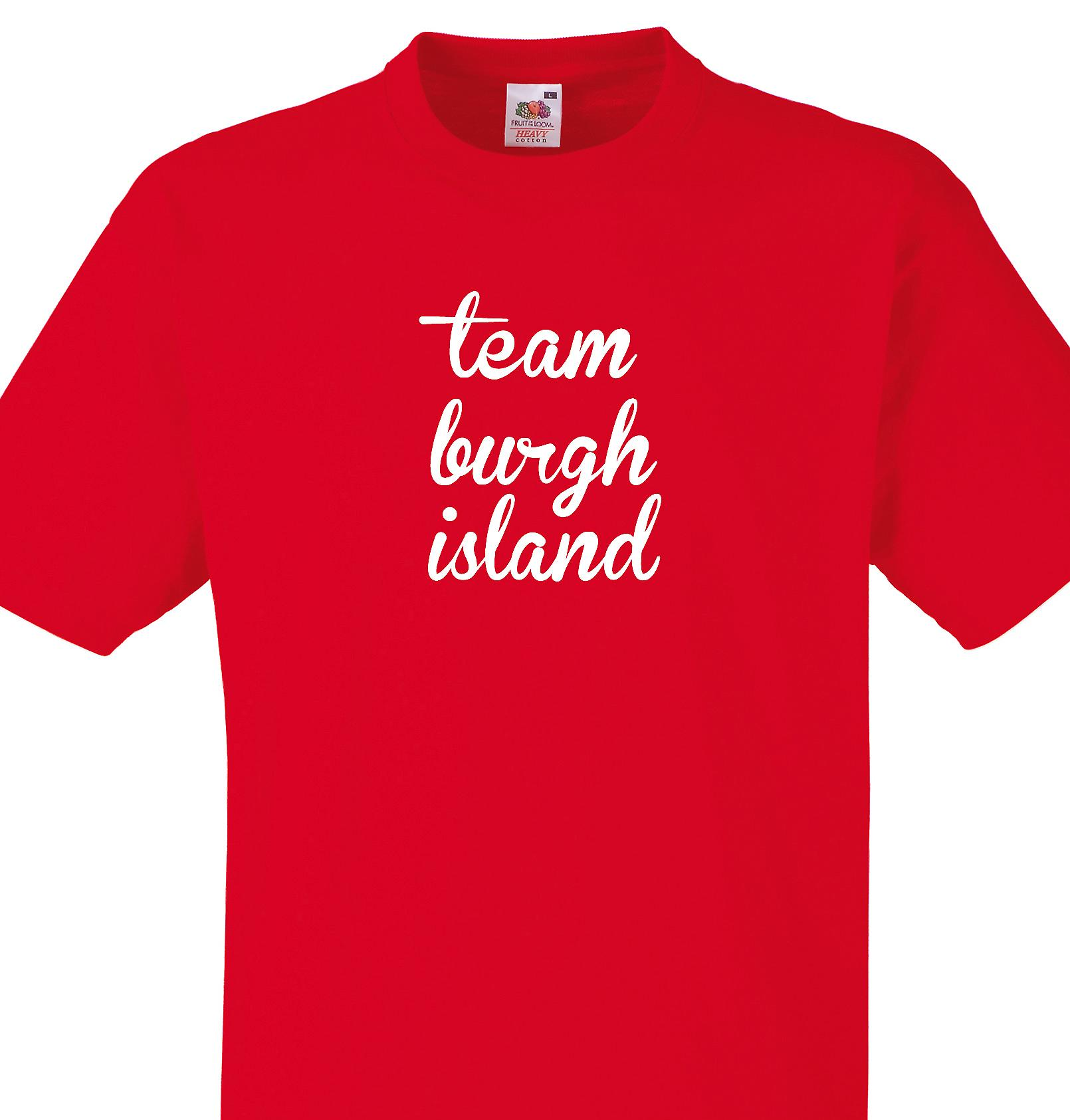 Team Burgh island Red T shirt