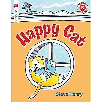 Glad katt (jag gillar att läsa böcker)