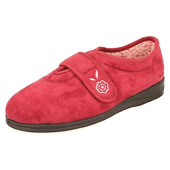 Ladies Padders Microsuede Cerise Slippers Style - Camilla Size 3 UK
