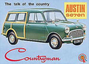 Mini Countryman metal fridge magnet