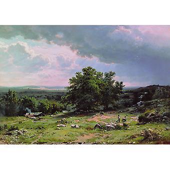 Landskap, Ivan Shishkin, 60x42cm