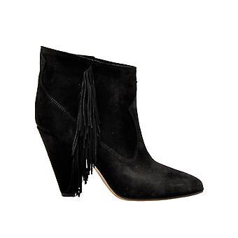 Buttero Black Suede Ankle Boots