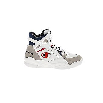 Champion White Leather Hi Top Sneakers