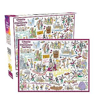 Roald Dahl Charlie and The Chocolate Factory 500 piece jigsaw puzzle (nm)