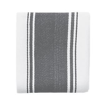 Love Colour Striped Tea Towel, Slate Grey