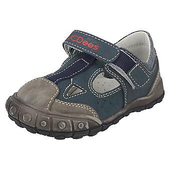 Boys JCDees Flat Velcro Strap Shoes - N1046