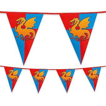 Mittelalterliche Ritter Kunststoff Bunting 6m lange Kinder jungen Geburtstag Party Dekoration