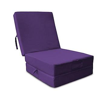 Water Resistant Fold Out Z Bed Cube - Purple