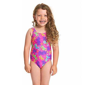 Zoggs Sea Unicorn Scoopback Swimwear For Girls