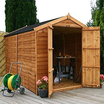 Mercia 10x6ft Overlap FSC Timber Dip Treated Apex Windowless Garden Shed