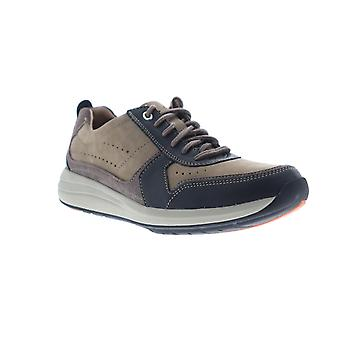 Clarks Un Coast Form  Mens Brown Leather Comfort Low Top Sneakers Shoes