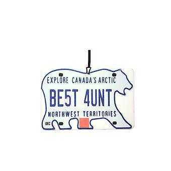 NORTHWEST TERRITORIES - Best Aunt License Plate Car Air Freshener