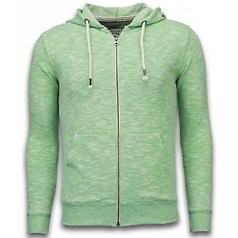 Casual Vest - Melange Zen Fleece - Groen