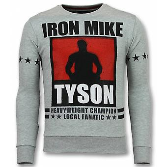 Mike Tyson Sweater-Iron Mike men's sweatshirt-men's sweaters-grey