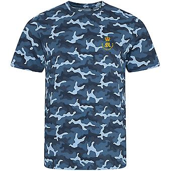Royal Waggon Train - Licence British Army Embroidered Camouflage Print T-Shirt