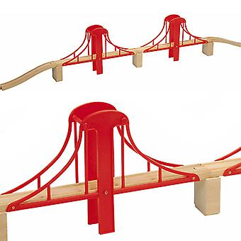 Golden Gate Bridge 7pcs für Holzeisenbahn Set 50913 - Brio Bigjigs kompatibel