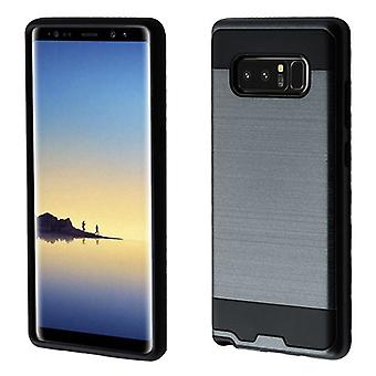 ASMYNA Ink Blue/Black Brushed Hybrid Case for Galaxy Note 8