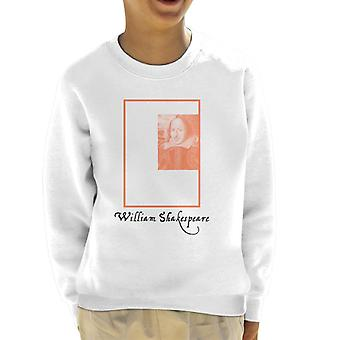 A.P.O.H William Shakespeare Box Portrait Kid's Sweatshirt