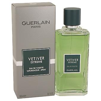Vétiver Extreme de Guerlain Eau De Toilette Spray 3.4 oz/100 ml (hommes)