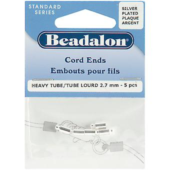 Cord Ends 5 Pkg Silver Plated 304 005 B
