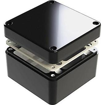 Universal enclosure 125 x 125 x 90 Aluminium Black Deltron Enclosures 487-121209B 1 pc(s)