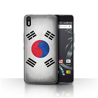 STUFF4 Case/Cover for BQ Aquaris X5/Korea/Korean/Flags