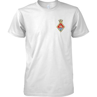 HMS Heron - Costa de la marina de guerra real establecimiento camiseta color