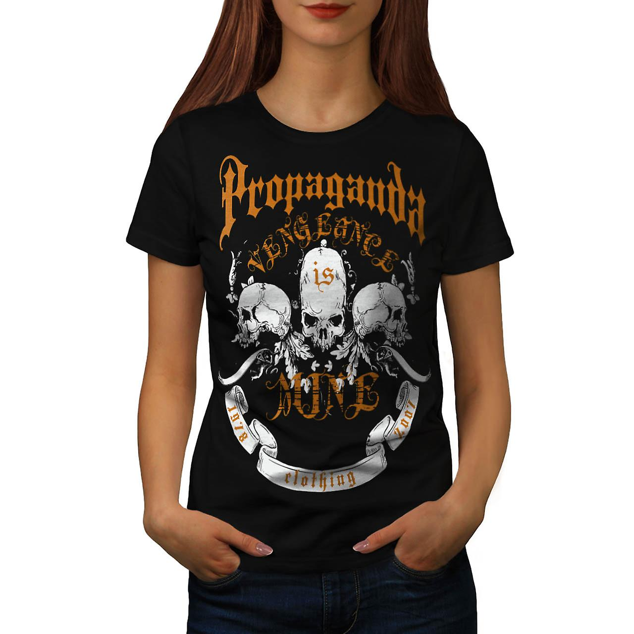 Propaganda Clothing Vengeance Women Black T-shirt | Wellcoda