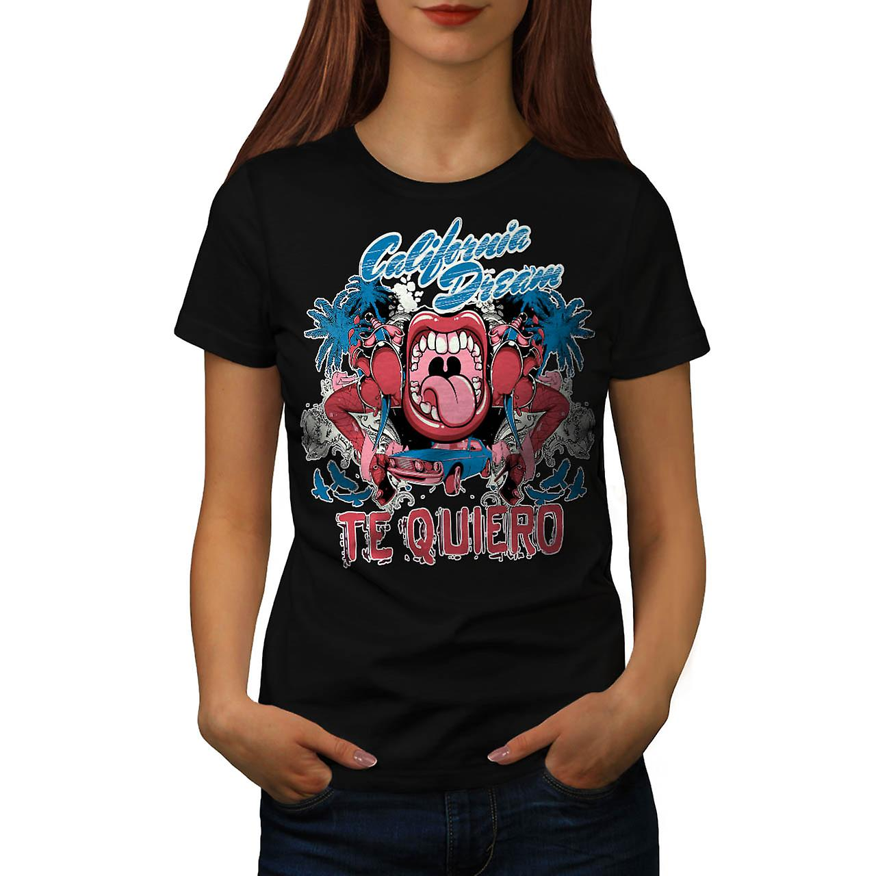 Te Quiero Art California Love You Women Black T-shirt | Wellcoda