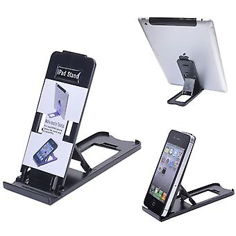 Soporte para iPhone, iPad y compatible con la mayoría de Tablet PC (negro)
