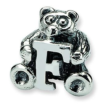 Sterling Silver Reflections Kids Letter F Bead Charm