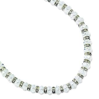 Silver-tone Clear Crystal 15inch With Ext Necklace