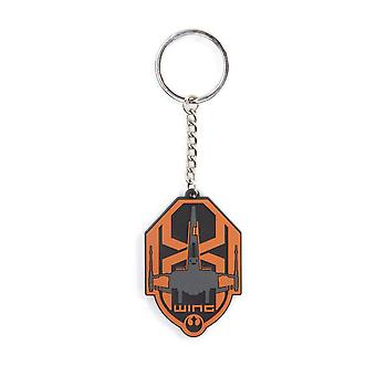 Star Wars The Force Awakens Unisex X-Wing Logo Rubber Keychain One Size Multi-Colour (KE197628STW)