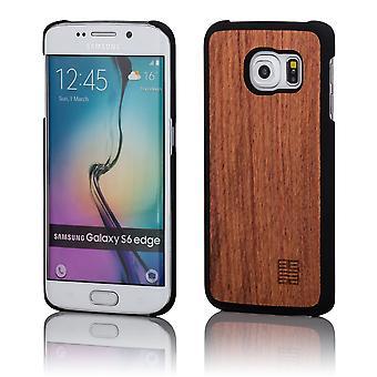 32e terug houten case voor Samsung Galaxy S6 Edge (SM-G925) - Cherry