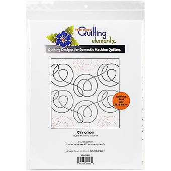 Quilting Creations Printed Tear Away Quilting Paper 4/Pkg-Cinnamon 4