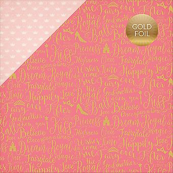 Once Upon A Time Princess Foil Double-Sided Cardstock 12