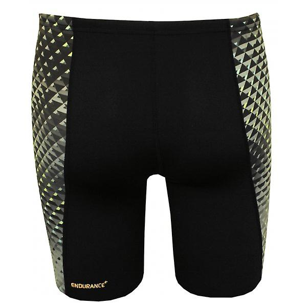Speedo Endurance+ All Over Digital Panel Jammers, Black/Grey