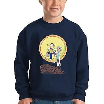 Rick And Morty Science King Kid's Sweatshirt
