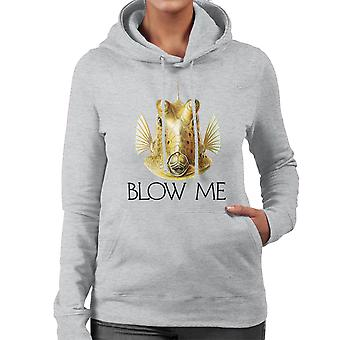 Blow Me Longhorn Cowfish Women's Hooded Sweatshirt