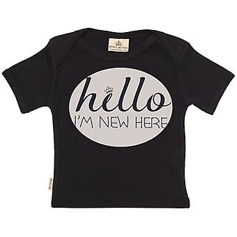 Spoilt Rotten Hello I'm New Here Short Sleeve Baby T-Shirt