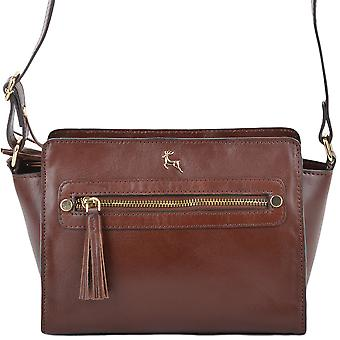 Ashwood Leather Small Structured Body Bag Si 1339-chestnut/vt