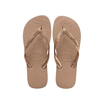 Havaianas Top Tiras - Rose Gold (Man-Made) Womens Sandals