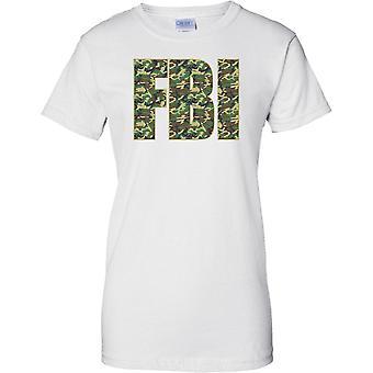 Federal Bureau of Investigation - FBI Police - Camo Effect -  - Ladies T Shirt