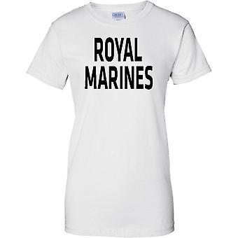 MOD con licencia - Royal Marines - texto - señoras T Shirt
